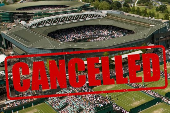 Wimbledon was cancelled for the 2020 season due to the coronavirus pandemic