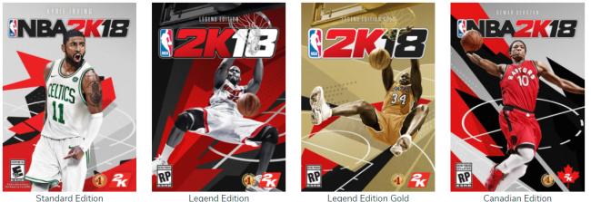 NBA 2K18 Cover Athletes