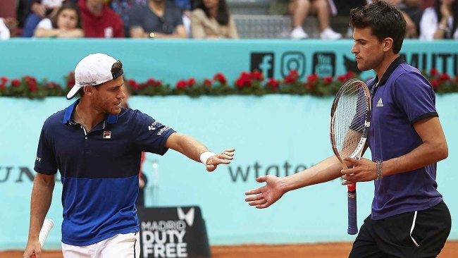 Diego Schwartzman Dominic Thiem French Open