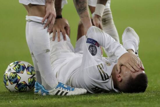 Eden Hazard Suffers Ankle Injury As Real Madrid Blow Two-Goal Lead Against  PSG