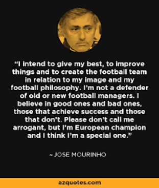 Jose Mourinho quote: I intend to give my best, to improve things and...