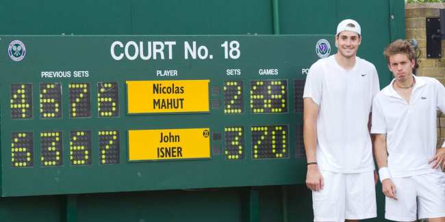 John Isner & Nicolas Mahut pose after playing the longest match in Tennis history