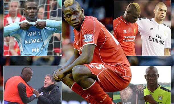 Mario Balotelli subbed off for Man City