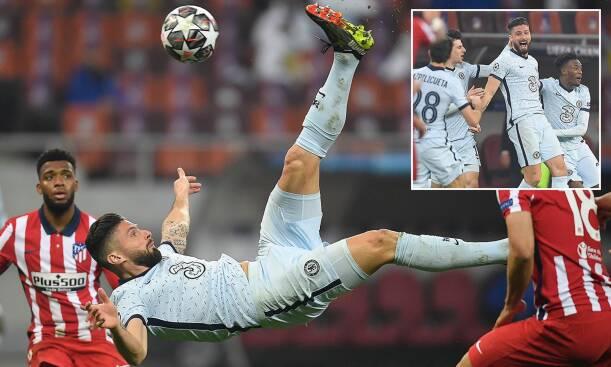 Giroud's overhead kick vs Atletico Madrid