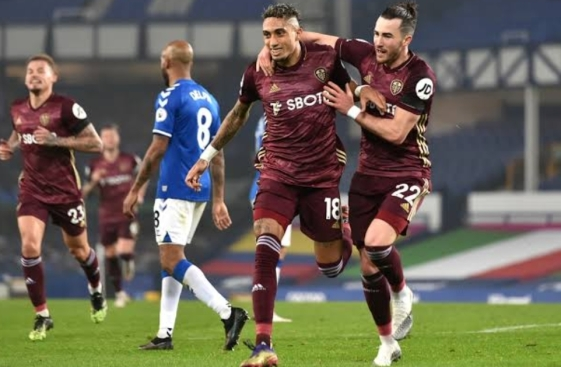 Raphinha secured all 3 points for Leeds against Everton