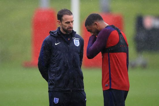 Joe Gomez and England Manager Gareth Southgate