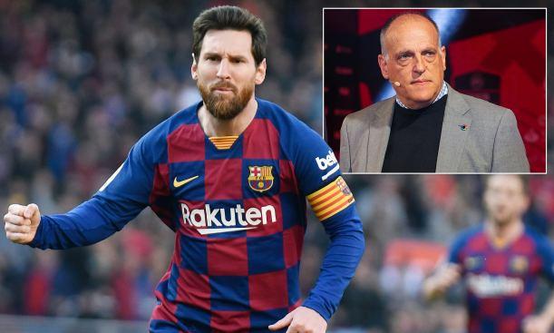 La Liga president Javier Tebas has come in support of Lionel Messi