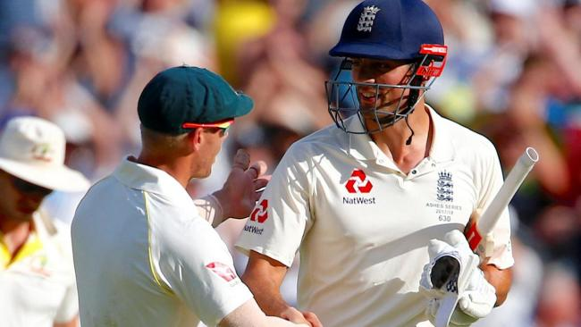 Alastair Cook and David Warner (Photo: national.ae)  Cook