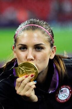 Alex Morgan winning the Olympic Gold for USA