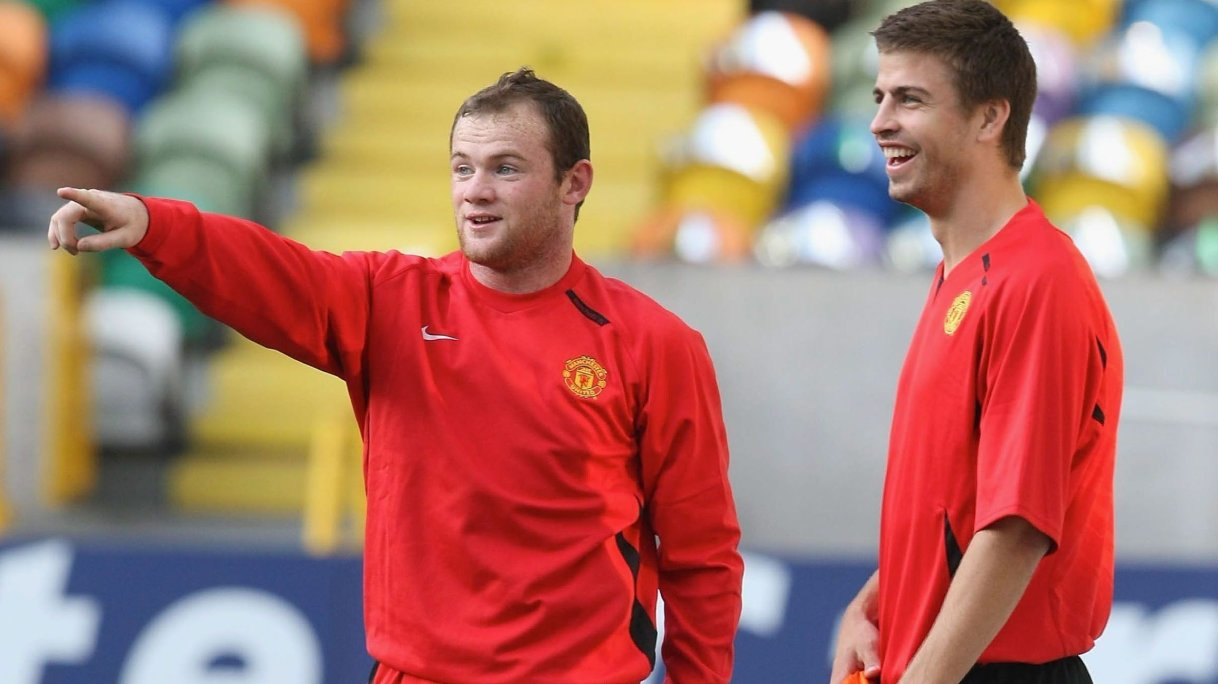 """Gerard Pique was """"bullied"""" out of the Premier League, says Wayne Rooney"""