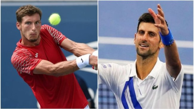 Pablo Carreno Busta Novak Djokovic
