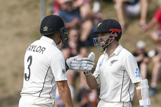 Kane Williamson and Ross Taylor New Zealand vs India