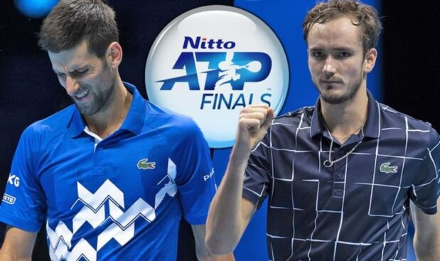 Djokovic and Medvedev at the Nitto ATP Finals