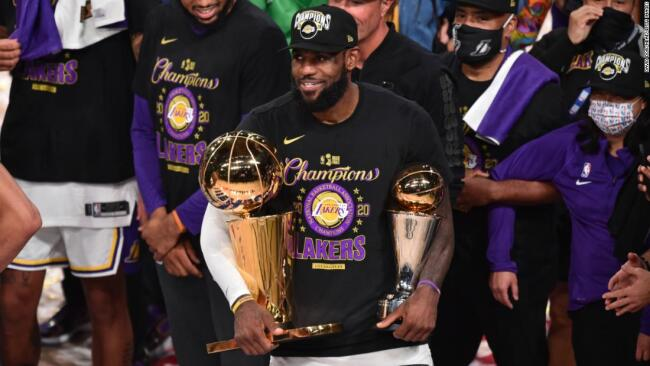 LeBron James called his mom right after winning the NBA Championship - CNN