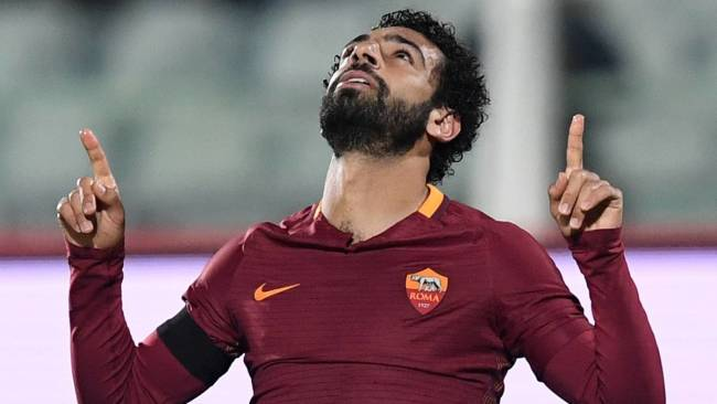 Salah playing for AS Roma