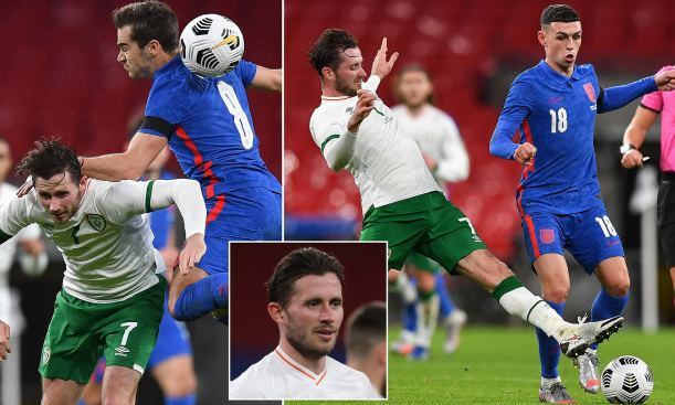 Alan Browni of Republic of Ireland was tested positive for covid-19 after his match against England