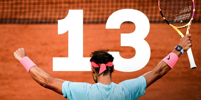 Nadal 13 French Open titles