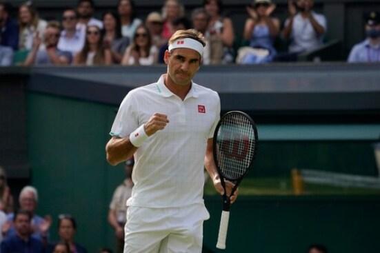 Federer at Wimbledon 2021