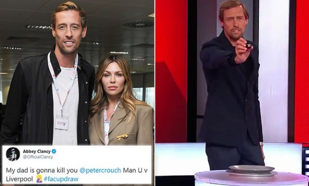 Peter Crouch and Abbey Clancy Tweet