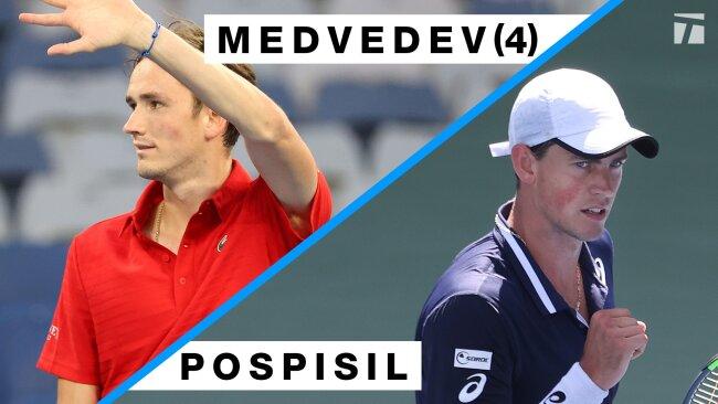 Daniil Medvedev vs Vasek Pospisil