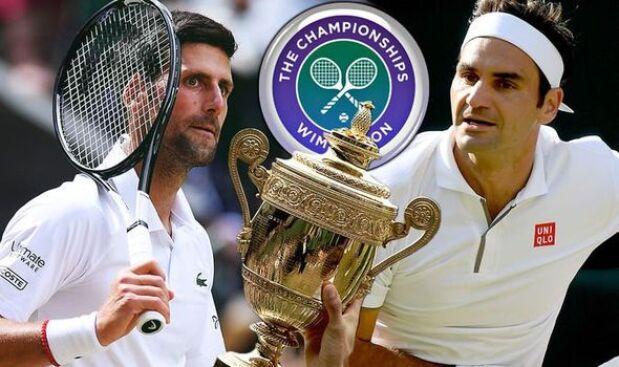 Djokovic and Federer Wimbledon