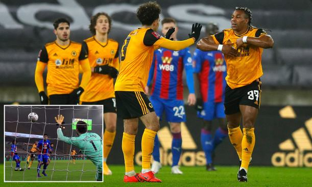 Roy Hodgson's men bowed out of the FA Cup against Wolves