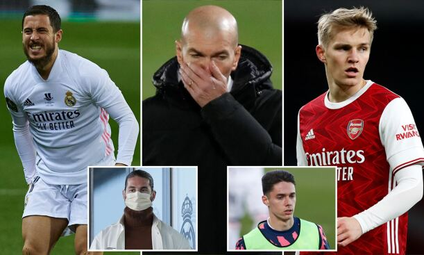 Real Madrid have many players injured ahead of their Champions League match against Atalanta
