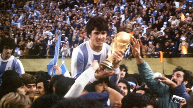 Argetina winning the 1978 FIFA World Cup