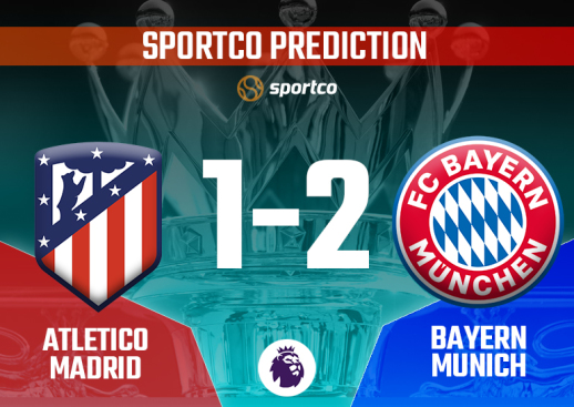 Athletico Madrid vs Bayern Munich Sportco Prediction