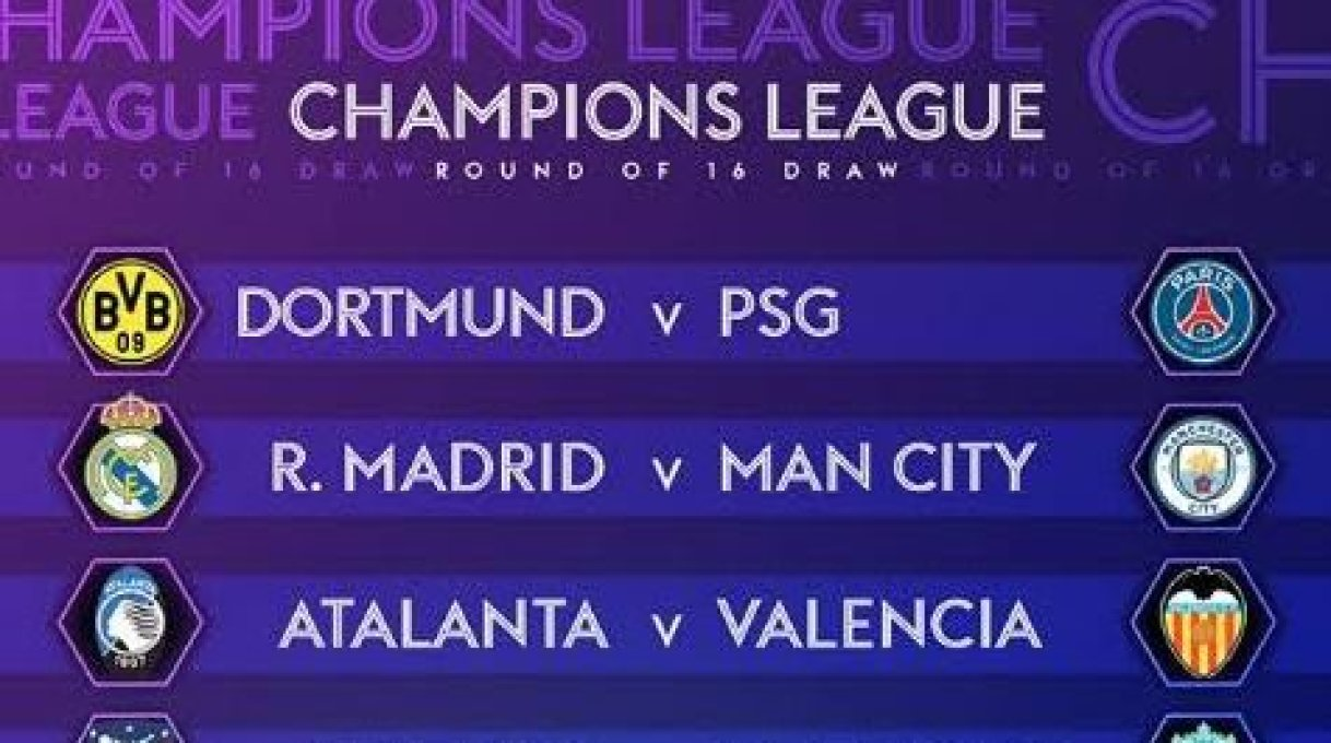 2019 20 uefa champions league round of 16 draw in full 2019 20 uefa champions league round of