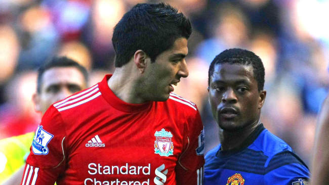 Luis Suarez and Patrice Evra were involved in controversial racial discrimination incident in 2012