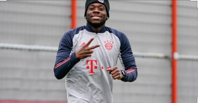 Alphonso Davies training for the Bavarians