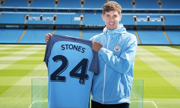Stones signed for City in Aug 2016