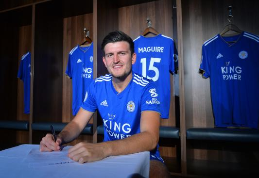 Harry Maguire signed for the foxes in June 2017