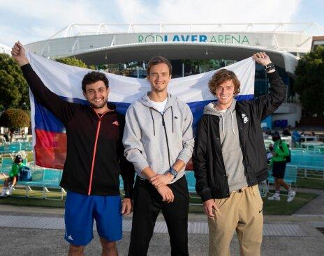 Karatsev, Medvedev, and Rublev
