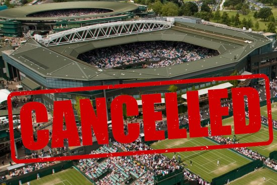 Wimbledon was cancelled in 2020 due to coronavirus outbreak