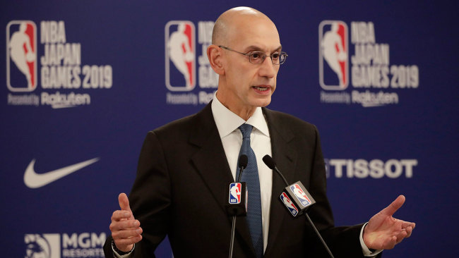 NBA Commissioner Adam Silver during a press conference