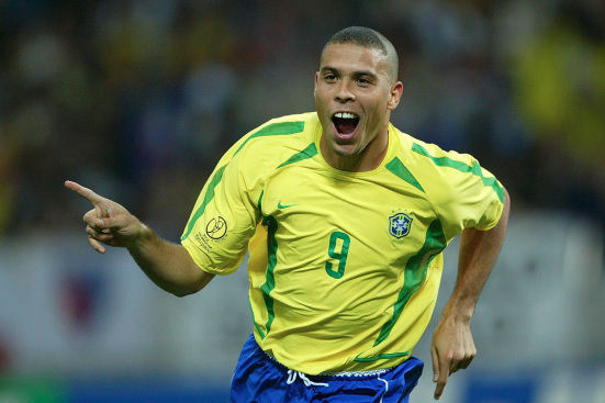 Ronaldo during the 2002 Fifa World CUp
