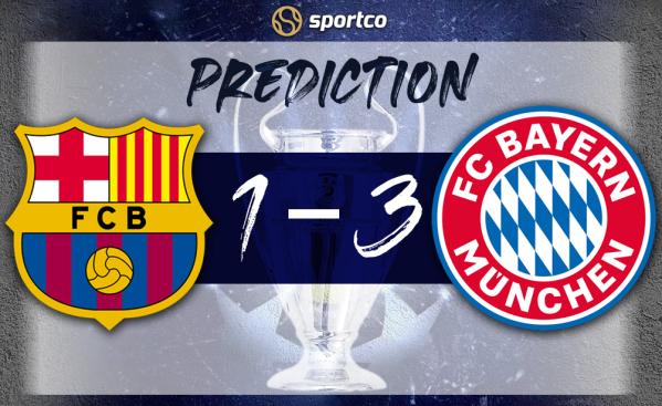 Barcelona vs Bayern Munich Score Prediction