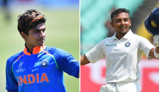 Prithvi Shaw and Shubman Gill (Picture: The Week)  Mayank